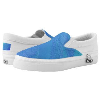 Blue Background... Slip-On Sneakers