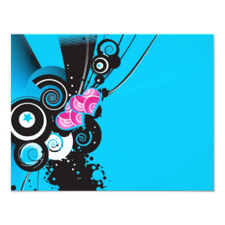 blue-background-with-shapes 4.25x5.5 paper invitation card