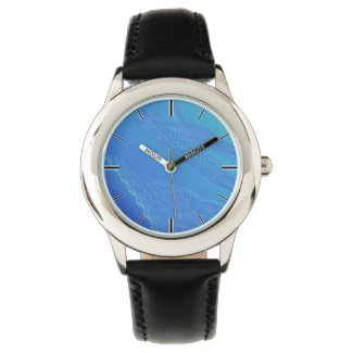Blue Background Wristwatch
