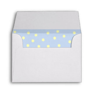 Blue Background Yellow Stars Envelope