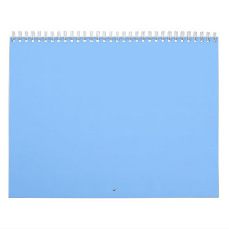 Blue Backgrounds on a Calendar