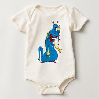 Blue bacteria baby bodysuit