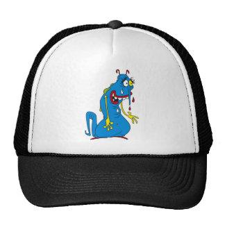 Blue bacteria trucker hat