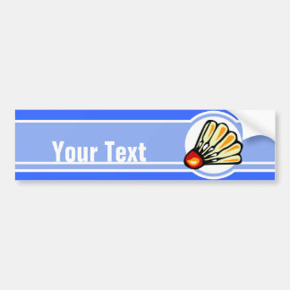 Blue Badminton Bumper Sticker