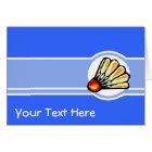 Blue Badminton Card