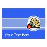 Blue Badminton Greeting Card