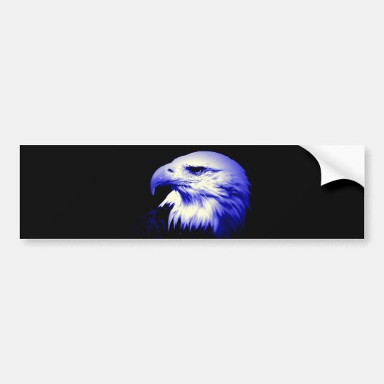 Blue Bald Eagle Bumper Sticker