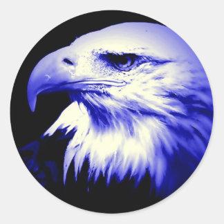 Blue Bald Eagle Sticker