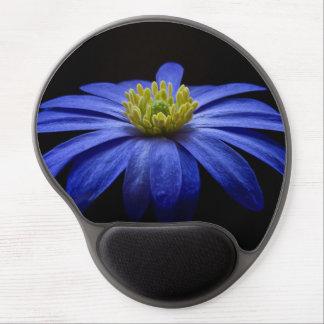 Blue Balkan Anemone flower Gel Mouse Mat