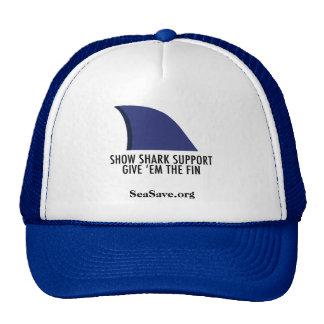 Blue Ball Cap Give Em The Fin Trucker Hat