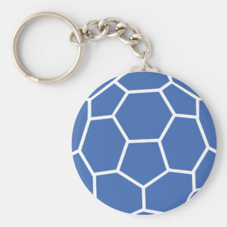 blue ball handball keychain