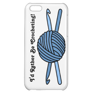 Blue Ball of Yarn & Crochet Hooks iPhone 5C Cover