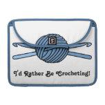 Blue Ball of Yarn & Crochet Hooks MacBook Pro Sleeves