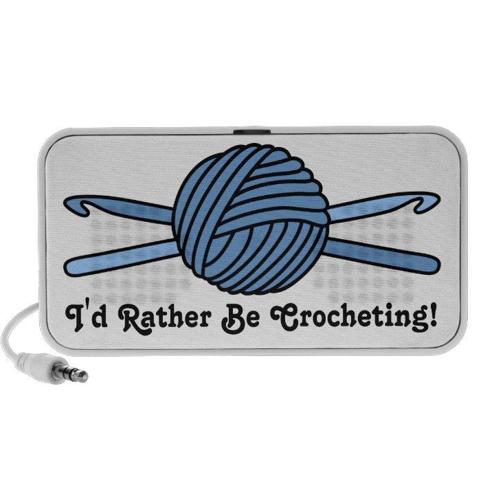 Blue Ball of Yarn & Crochet Hooks Speaker