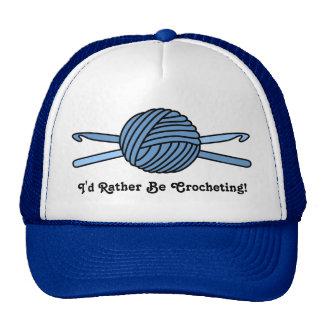 Blue Ball of Yarn & Crochet Hooks Trucker Hat