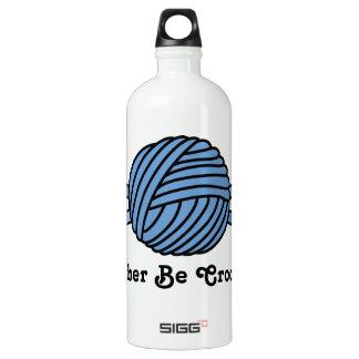 Blue Ball of Yarn & Crochet Hooks Water Bottle