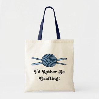 Blue Ball of Yarn (Knit & Crochet) Bag