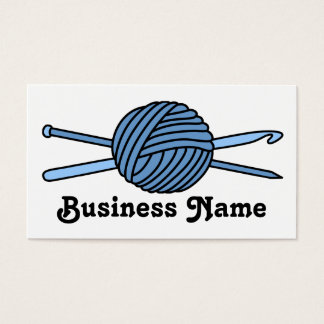 Blue Ball of Yarn (Knit & Crochet) Business Card