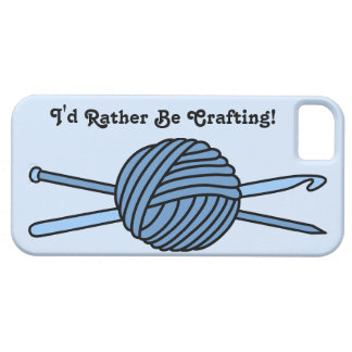 Blue Ball of Yarn (Knit & Crochet) iPhone 5 Cover