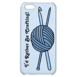 Blue Ball of Yarn (Knit & Crochet) iPhone 5C Covers