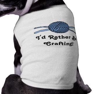 Blue Ball of Yarn (Knit & Crochet) T-Shirt