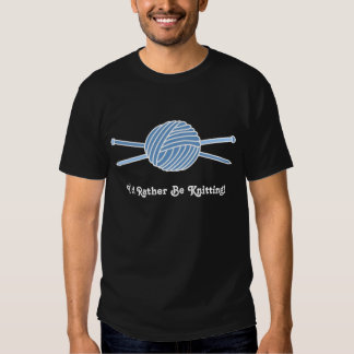 Blue Ball of Yarn & Knitting Needles T-shirt
