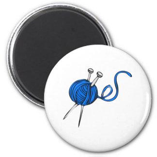 Blue Ball of Yarn Magnet