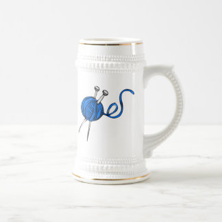 Blue Ball of Yarn Coffee Mug