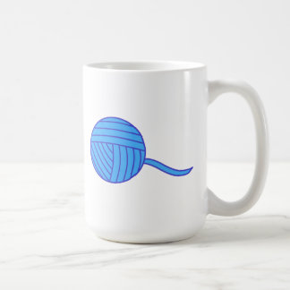 Blue Ball of Yarn Coffee Mugs