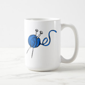 Blue Ball of Yarn Mug