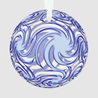 Blue Ball Ornament