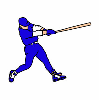 Blue Ball Player Statuette