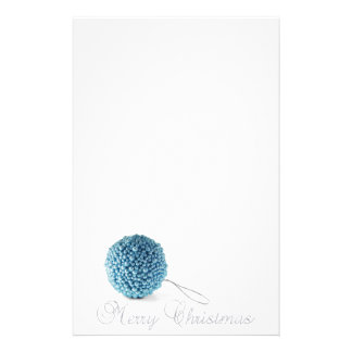 Blue Ball Silver Merry Stationery