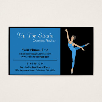 Blue Ballerina Dancer - Business Cards
