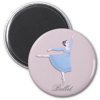 Blue Ballerina Magnet