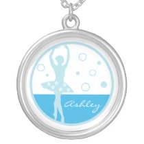 Blue Ballerina Necklace
