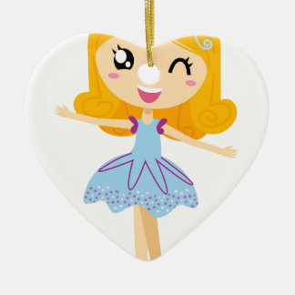 Blue ballerina Princess cute T-Shirts Ceramic Ornament