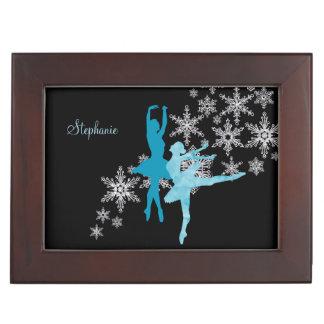Blue Ballerina Snowflake Memory Box