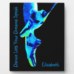 Blue Ballet Pointe Slippers Personalized Plaques