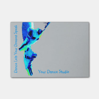 Blue Ballet Pointe Slippers Personalized Post-it Notes