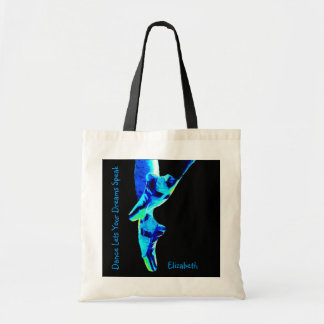 Blue Ballet Pointe Slippers Personalized Tote Bag
