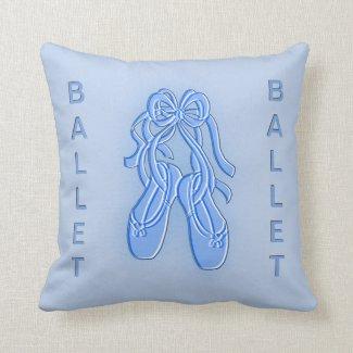 Blue Ballet Slippers American Mojo Pillow