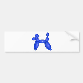 Blue Balloon Animal Dog Bumper Stickers