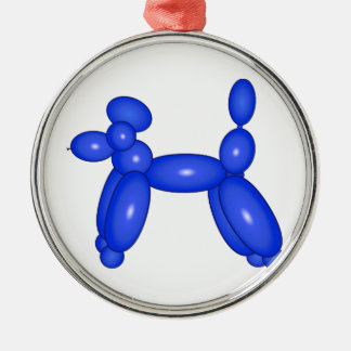 Blue Balloon Animal Dog Metal Ornament