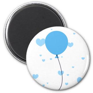 Blue Balloon & Hearts 2 Inch Round Magnet