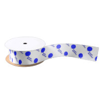 Blue Balloon-Patterned Satin Ribbon