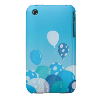 Blue Balloons iPhone 3 case