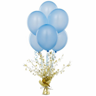Blue Balloons Ornament Photo Sculpture Ornament