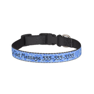 Blue Balloons Dog Collar