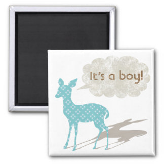 Blue Bambi Baby Announcement Magnet